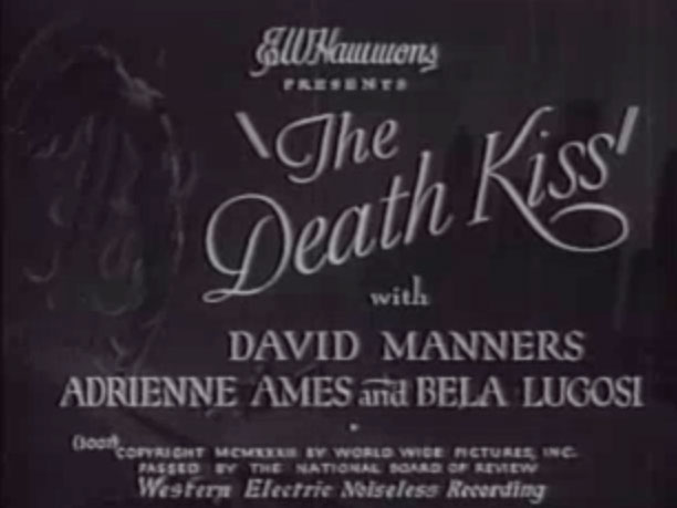"While filming the last scene of the movie ""The Death Kiss"" the leading male role Myles Brent actually gets murdered, and since he's been around with most of… title="
