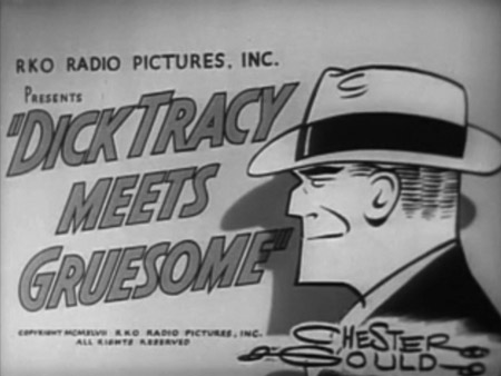 This Dick Tracy movie has Boris Karloff as Gruesome where he uses a toxic gas to paralyze people and rob banks.  This isn't to be confused with… title=