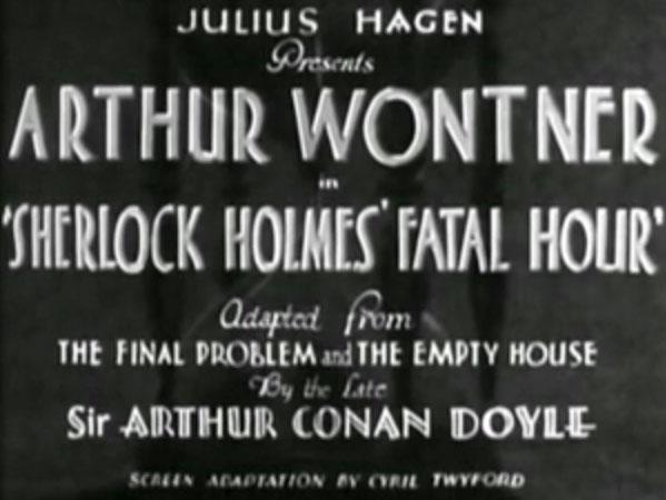 Sherlock Holmes' Fatal Hour